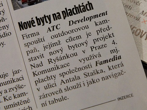 Marketing & Media: Nové byty na plachtách